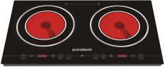 ENDEVER DP-50 черный, 66х39,7 см, 2 конфорки, крышка отсутствует, стеклокерамика, дисплей, таймер